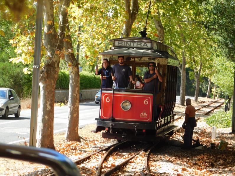 oncoming tram