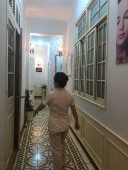 Hallway to Treatment Room